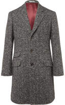 Brunello Cucinelli Herringbone Virgin Wool And Cashmere-blend Coat - Gray