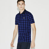 Lacoste Men's Sport Super Light Gingham Print Polo Golf Shirt