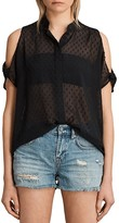AllSaints Irie Cold-Shoulder Shirt