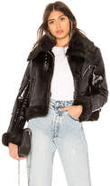 Palmer Girls x Miss Sixty Patent Leather Shearling Jacket