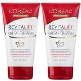 L'Oreal Skin Care Revitalift Radiant Smoothing Wet Facial Cream Cleanser, 2 Count