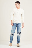 True Religion Destroyed Jacquard Rocco Skinny Mens Jean