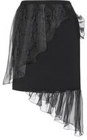 Christopher Kane Crepe Skirt With Silk Ruffles