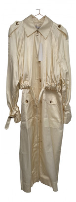 REJINA PYO Beige Silk Trench coats