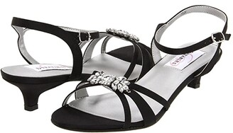 Touch Ups Penelope by Dyeables (Black Satin) High Heels