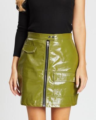 Missguided Vinyl Utility Mini Skirt
