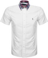Ralph Lauren Checked Collar Shirt White