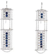 Moritz Glik 18K Sapphire and Diamond Drop Earrings