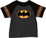 Batman Flocked Logo DC Comics Superhero Distressed Toddler T-Shirt Tee
