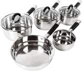 Tower Essentials 5-Piece Stainless Steel Pan Set