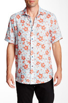 Robert Graham Canna Short Sleeve Linen Classic Fit Shirt