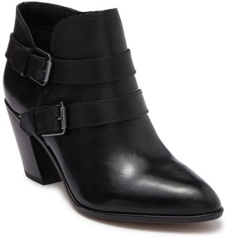 Franco Sarto Orek Leather Buckle Ankle Boot