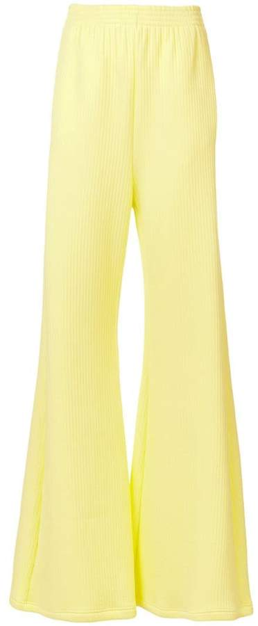MM6 MAISON MARGIELA ribbed palazzo pants