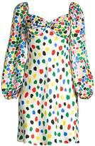 Rixo Paris Abstract Tulip-Print Mini Dress