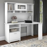 Hillsdale L- Shape Desk with Hutch Red Barrel Studio Color: Gray