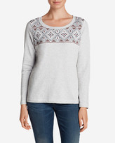 Eddie Bauer Women's Shoreline Embroidered Sweatshirt