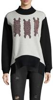 Vivienne Tam Ikat Applique Sweatshirt