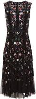 Needle & Thread Black Floral Ombré Embellished Dress