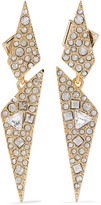 Alexis Bittar Gold-plated crystal earrings