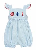 petit bebe Smocked Nautical Bubble