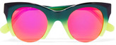 Westward Leaning Fhloston Paradise 1 Cat-eye Acetate Sunglasses - Pink