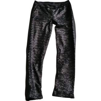 Hotel Particulier Black Polyester Trousers