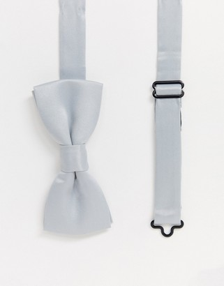 ONLY & SONS satin bow tie in grey