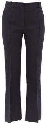 Valentino Tailored Slim-fit Virgin Wool-blend Trousers - Womens - Navy