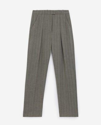 The Kooples Flowing suit grey suit trousers w/herringbone