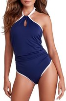 Freya In The Navy Underwire High Neck Suit in (AS3860) *Sizes C-FF*