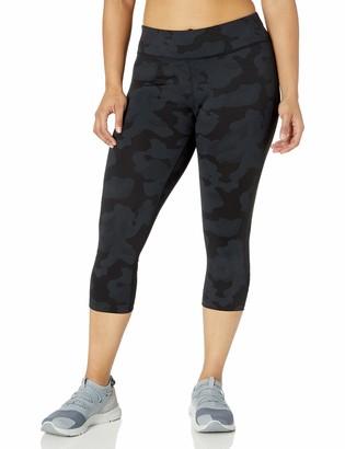 Calvin Klein Women's Plus Size Texture Print Crop Legging