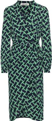 Diane von Furstenberg Carla Printed Crepe Wrap Dress