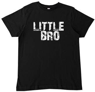 Micro Me Boys' Tee Shirts BLACK - Black & White 'Little Bro' Tee - Infant, Toddler & Boys