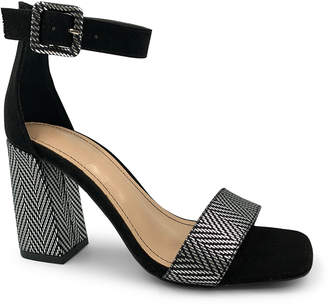 Bamboo Women's Sandals BLACK - Black Zigzag Nicole Sandal - Women