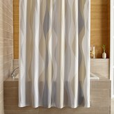 Crate & Barrel Italian Seersucker Neutral Shower Curtain