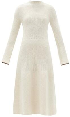 Proenza Schouler High-neck Rib-knitted Dress - Ivory
