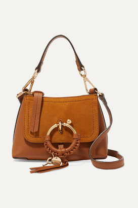 See by Chloe Joan Mini Textured-leather And Suede Shoulder Bag - Tan