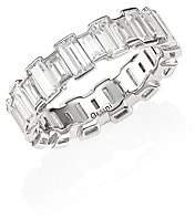 Adriana Orsini Women's Geometric Cubic Zirconia Band Ring