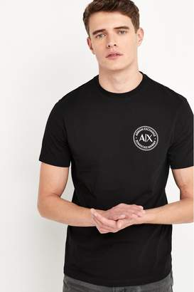 Armani Exchange Mens Black T-Shirt - Black