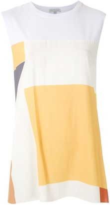 Alcaçuz Murakani panelled blouse
