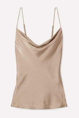 BEIGE Skin - Tara Draped Washed Stretch-silk Satin Camisole
