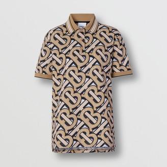 Burberry Monogram Print Cotton Pique Polo Shirt - Unisex
