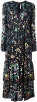 Antonio Marras floral print keyhole neck dress