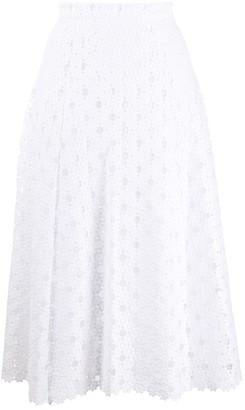 MICHAEL Michael Kors Floral Lace Midi Skirt
