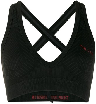 Unravel Project textured jersey sports bra