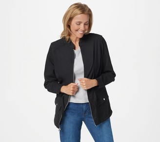 Denim & Co. Utility Jacket with Eyelet Trim