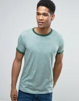 Esprit Crew Neck Slubby Ringer T-Shirt