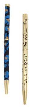 Betsey Johnson Blue Leopard Pen Set