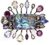 Alexander McQueen Crystal Embellished Flower Cuff