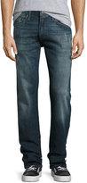 Mavi Jeans Zach Straight-Leg Brushed Williamsburg Jeans, Blue